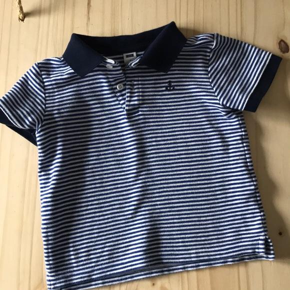 414b0a0a Janie and Jack Shirts & Tops | Jj Anchor Nautical Striped Polo ...